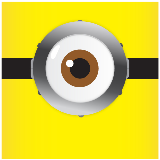 Lively image within minion eye printable