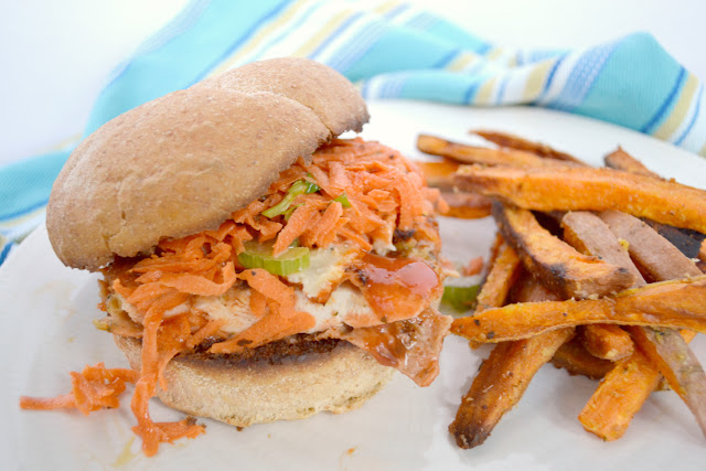 Buffalo Chicken Sandwich with Carrot Slaw Recipe