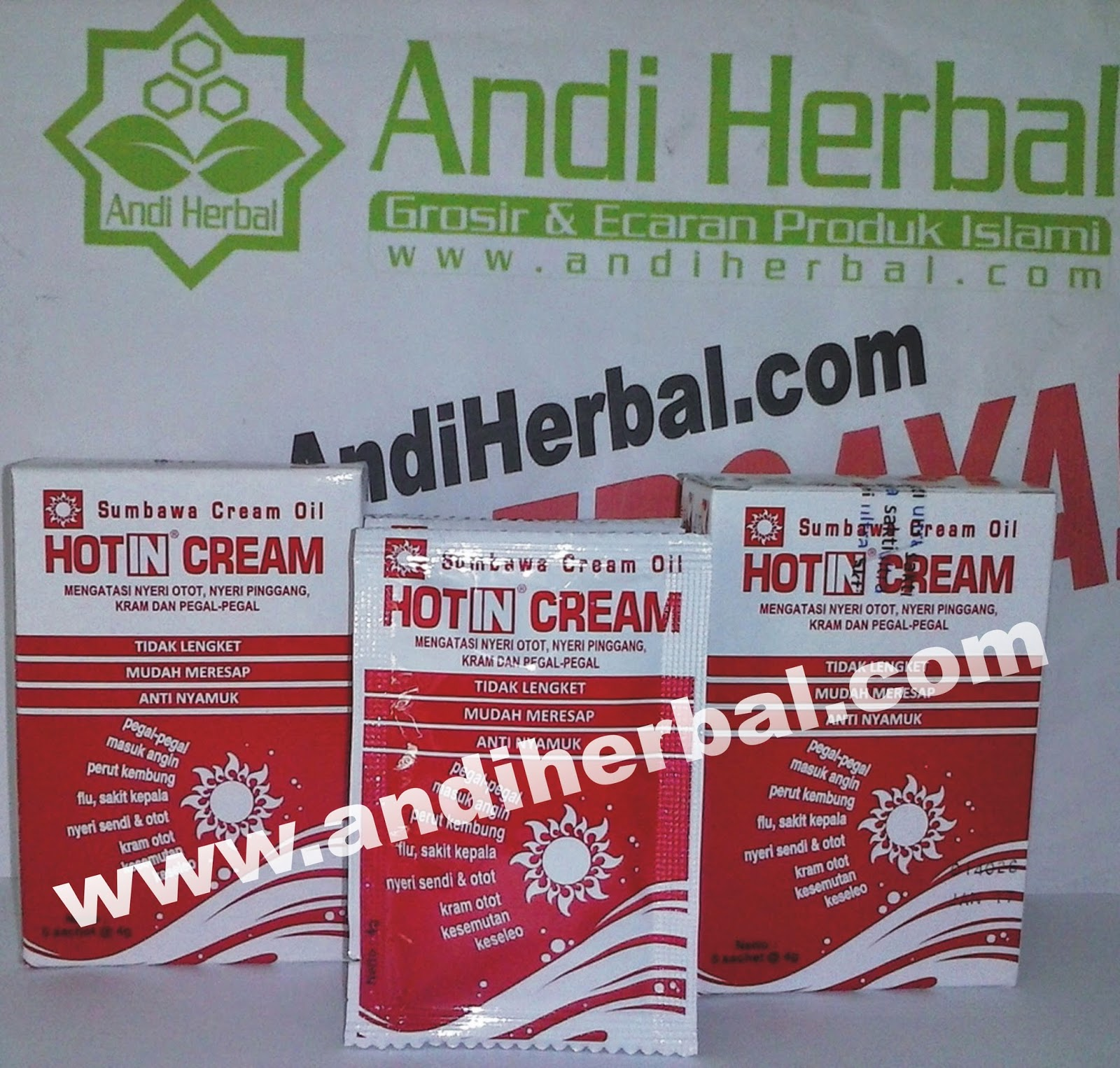 Hot In Cream Sachet Baru - Sumbawa Cream Oil Andiherbal.com