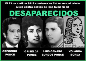 Compañeros desaparecidos Catamarca