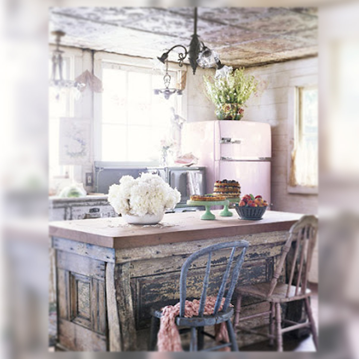 Excepcional Cocinas Estilo Shabby Chic Ideas - Ideas de Decoración ...