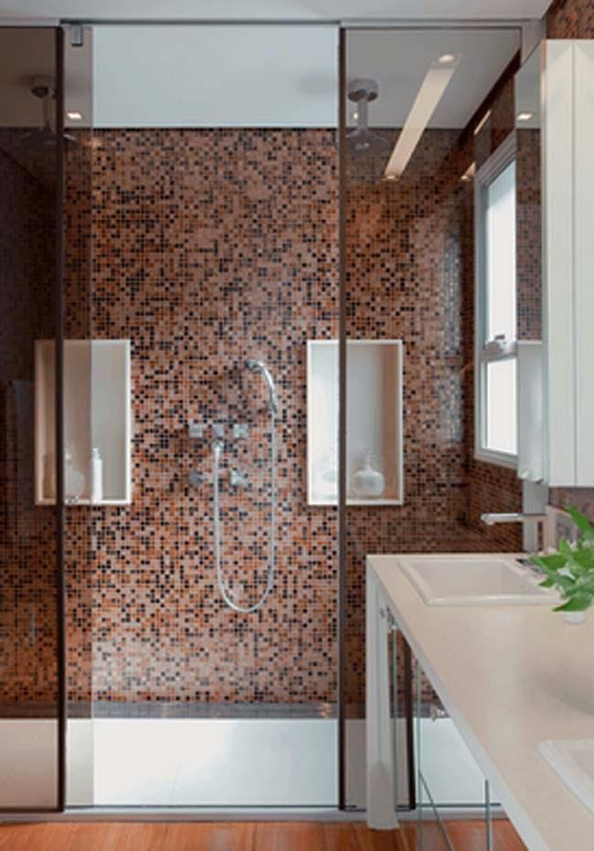 Modamei Decor de banhueiros modernos -> Banheiros Com Pastilhas De Porcelana