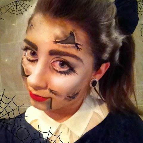 Halloween psycho doll makeup tutorial