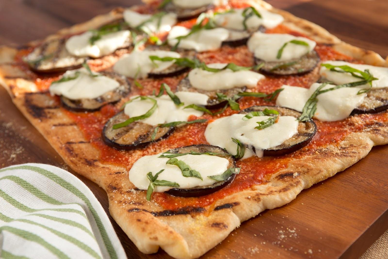 Meals, Heels, and Cocktails: Grilled Eggplant Parmesan Pizza