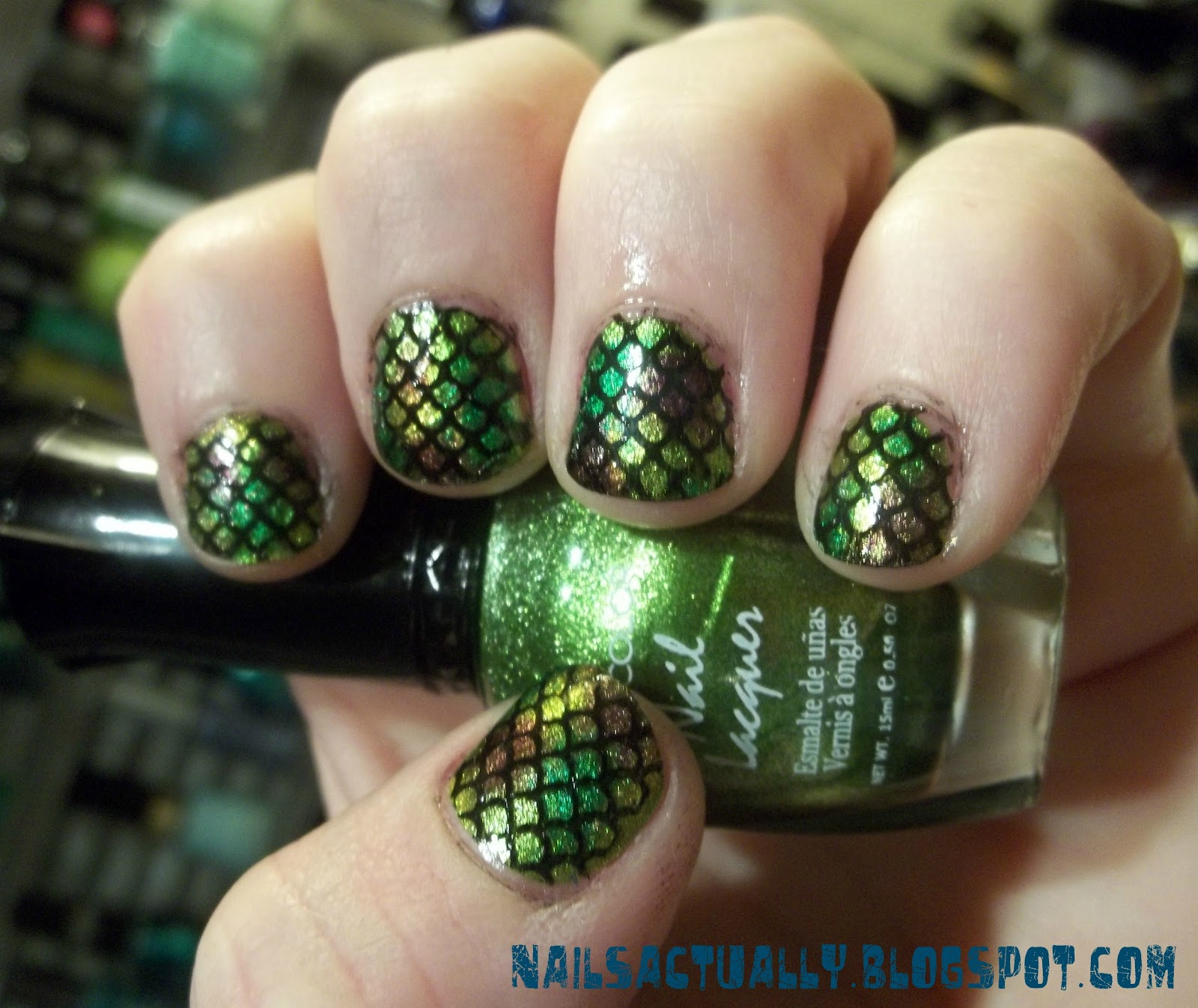 Nails Actually: Metallic Fish Scale Nails