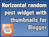 Horizontal random post widget thumbnails