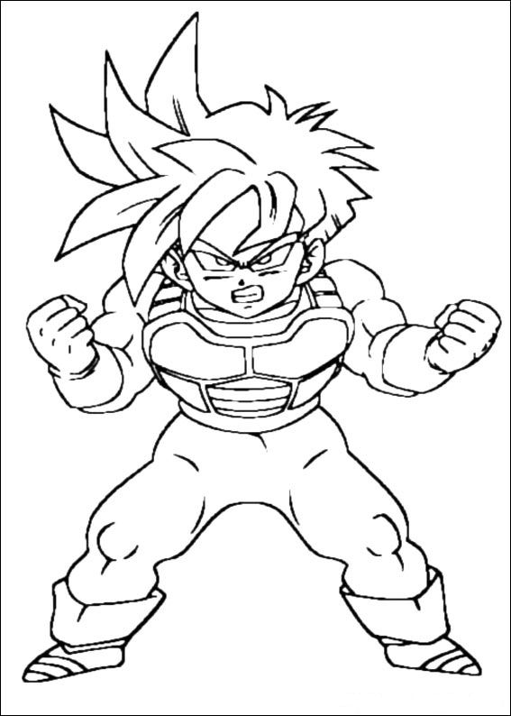 Colorir Imagens : Imagens para colorir do dragon ball z