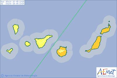 Lanzarote y Fuerteventura con Gran Canaria, alerta naranja por calor, 13 mayo