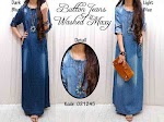 Gamis Jeans Washed XL SOLD OUT