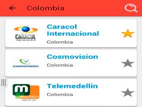 Lista de Canales de Televisión Colombiana