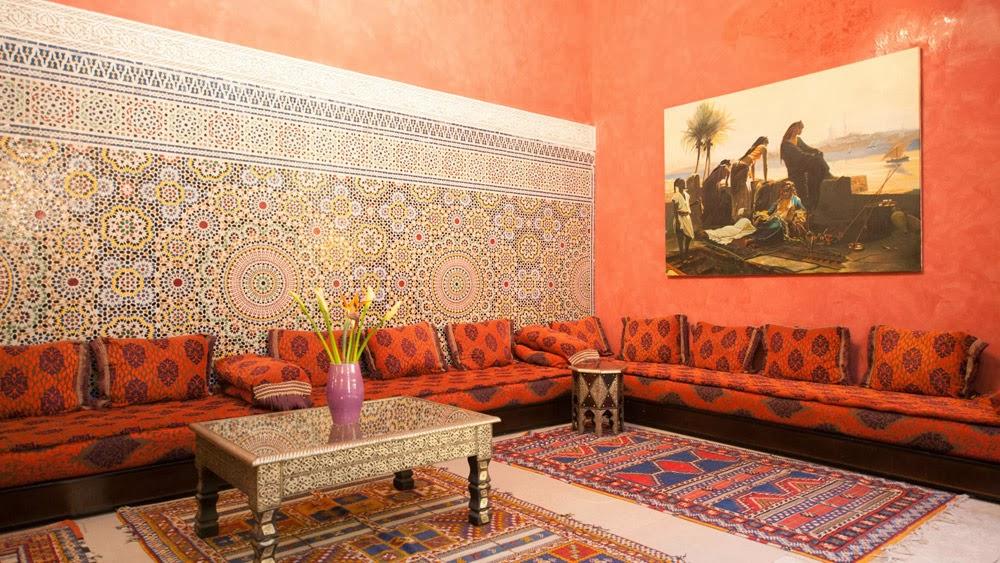 salon marocain rouge et orange salon marocain moderne marron lombards - Salon Marocain Moderne Orange Marron
