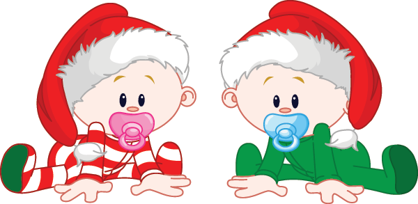 Holiday babies emoticon for Facebook