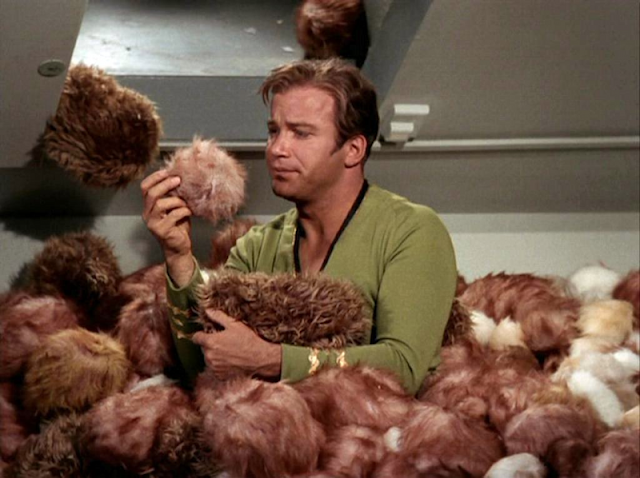 "[Kirk examining a tribble] ""Character development is gonna be a bitch…"""