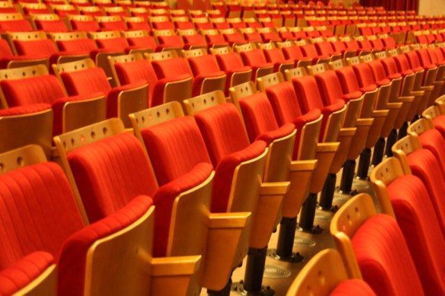 Butacas en el Teatro Auditorio de la Universidad Laboral de Gijon