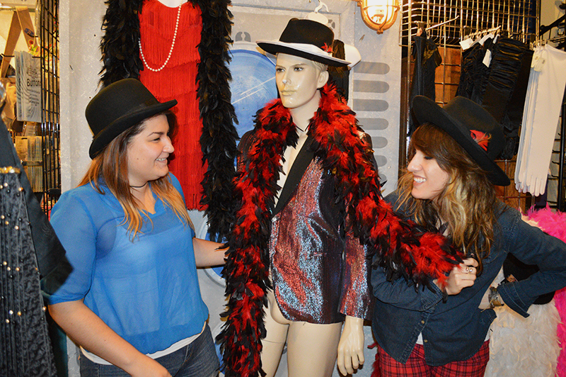 In store stylists and sales associates Stephanie and Pandora at local vintage shop Miami Twice.