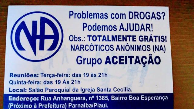 Grupo de Narcóticos anônimos realiza atendimentos gratuitos em Parnaíba