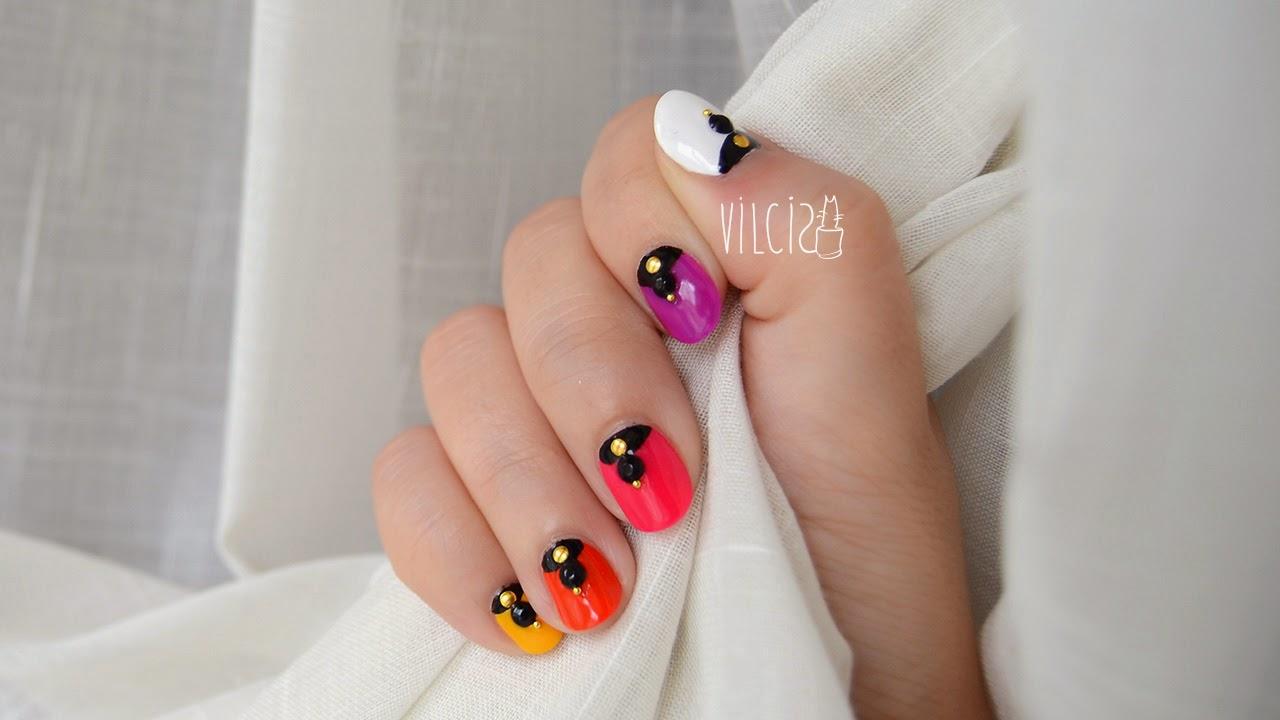 Diseño de uñas colorido Bollywood vilcis
