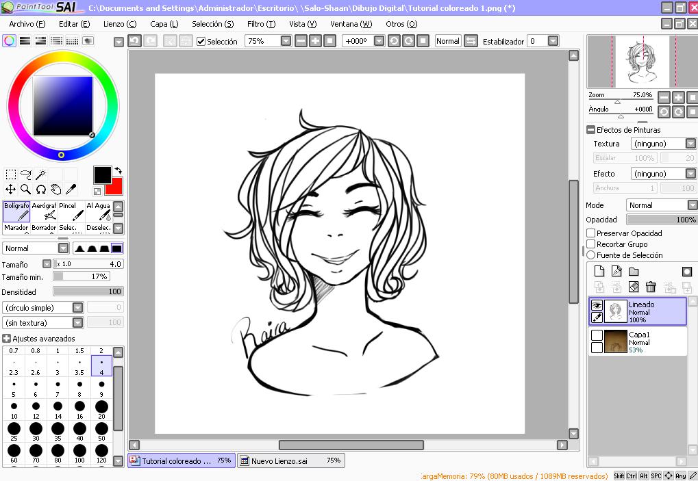 Colorear en sai dibujos m sica for Programas para dibujar