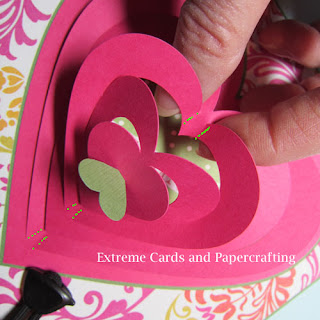 valentine pop up card creases