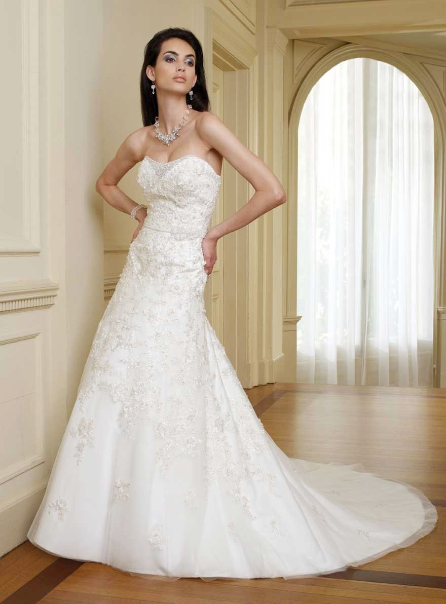 Strapless Lace Wedding Dresses Concepts Ideas Photos HD