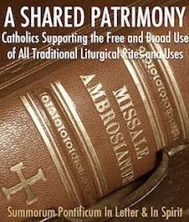 Mendukung penggunaan ritus liturgi tradisional