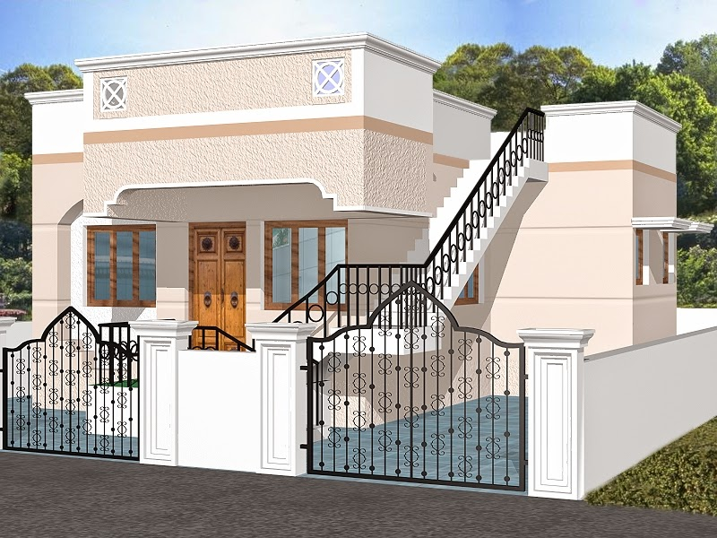 Indian homes house plans house designs 775 sq ft for 3d interior home design photos