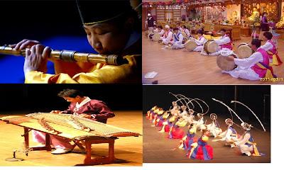 M'usica folk de Alboria instrumentos tradicionales국악기 음악