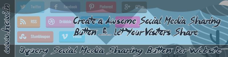 Jquery Social Media Share Button For Websites