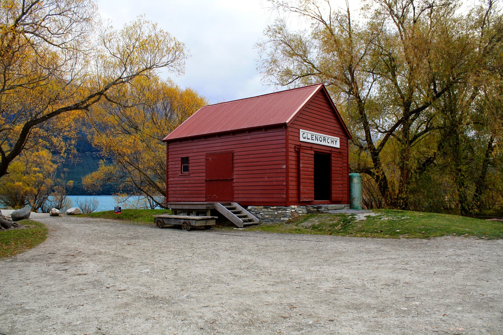 The boat shed at Glenorchy.