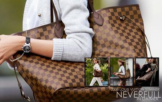 Bolsa Louis Vuitton - Modelo: Neverfull Damier Ebene MM - 555 x 350  55kb  jpg