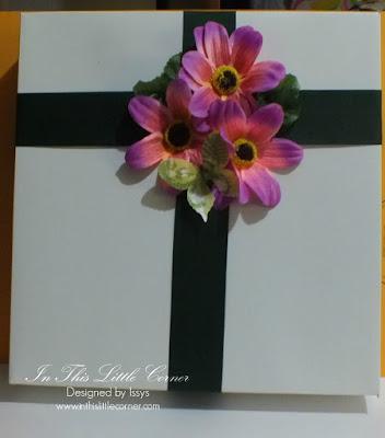 Caja decorada con flores