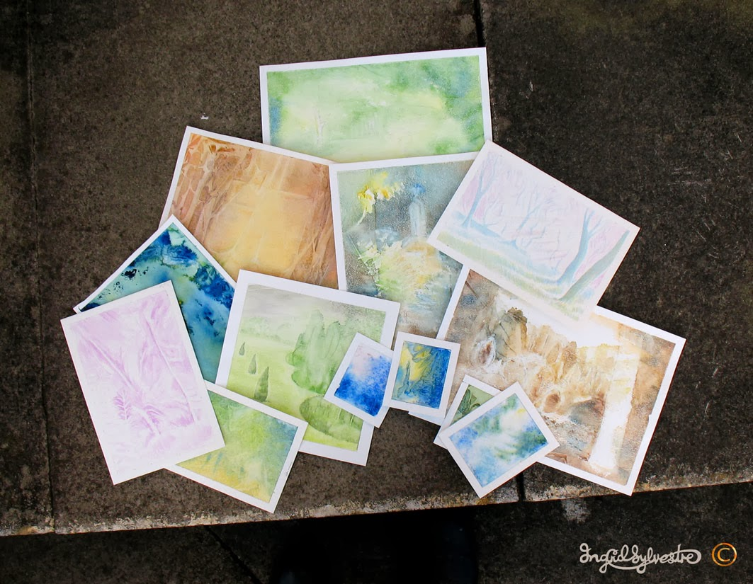 Small Sylvan Art Works in Progress - Watercolour - Ingrid Sylvestre