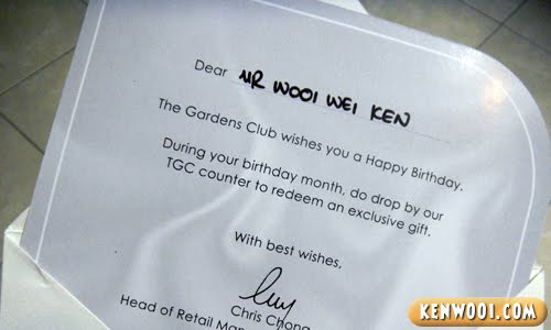 gardens club birthday card