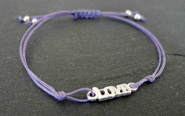 love silver friendship bracelet
