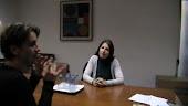 Lorena y su compañera intérprete Fiorella Bianchi.