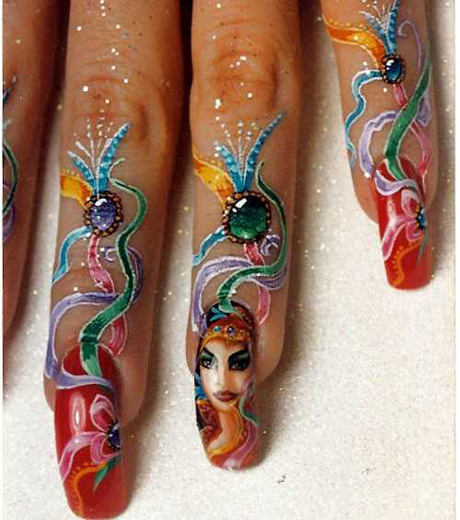 The Breathtaking Simple orange nail art designs Digital Imagery
