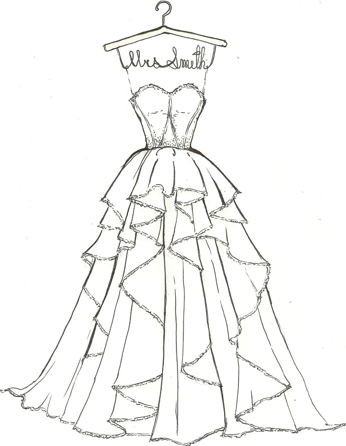 Barbie wedding dress patterns free printable for Wedding dress patterns free download