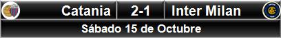 Catania 2-1 Inter Milan