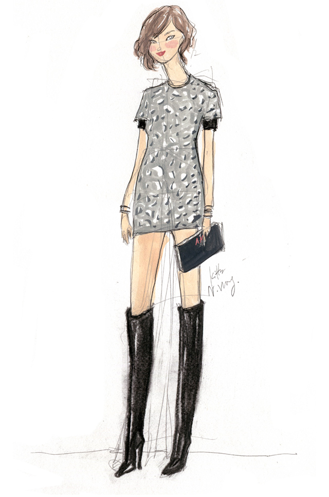 Kitty N. Wong / Arizona Muse Fashion Illustration