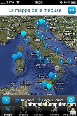 situazione meduse mare italiano