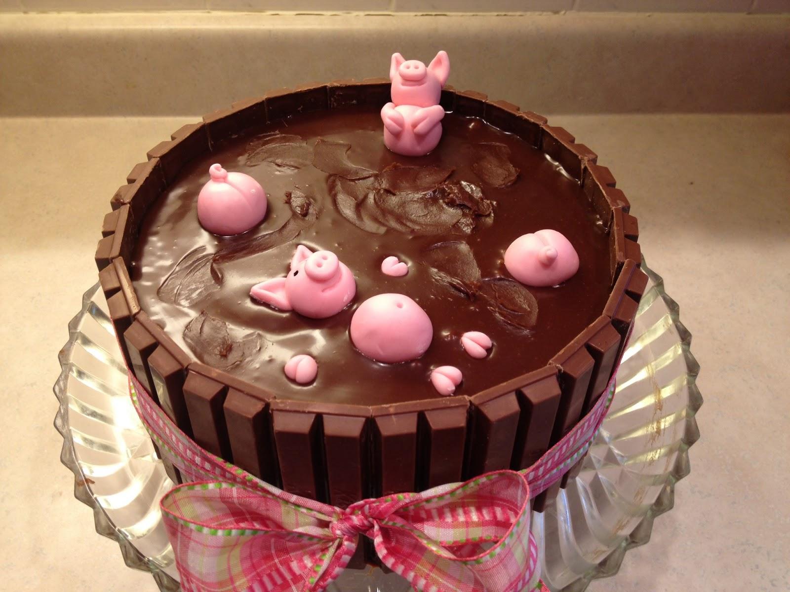 Cake Art Mud Cake Mix : Marshmallow Masterpieces!: pigs in mud cake