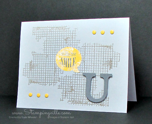 U make me smile! Great masculine card.