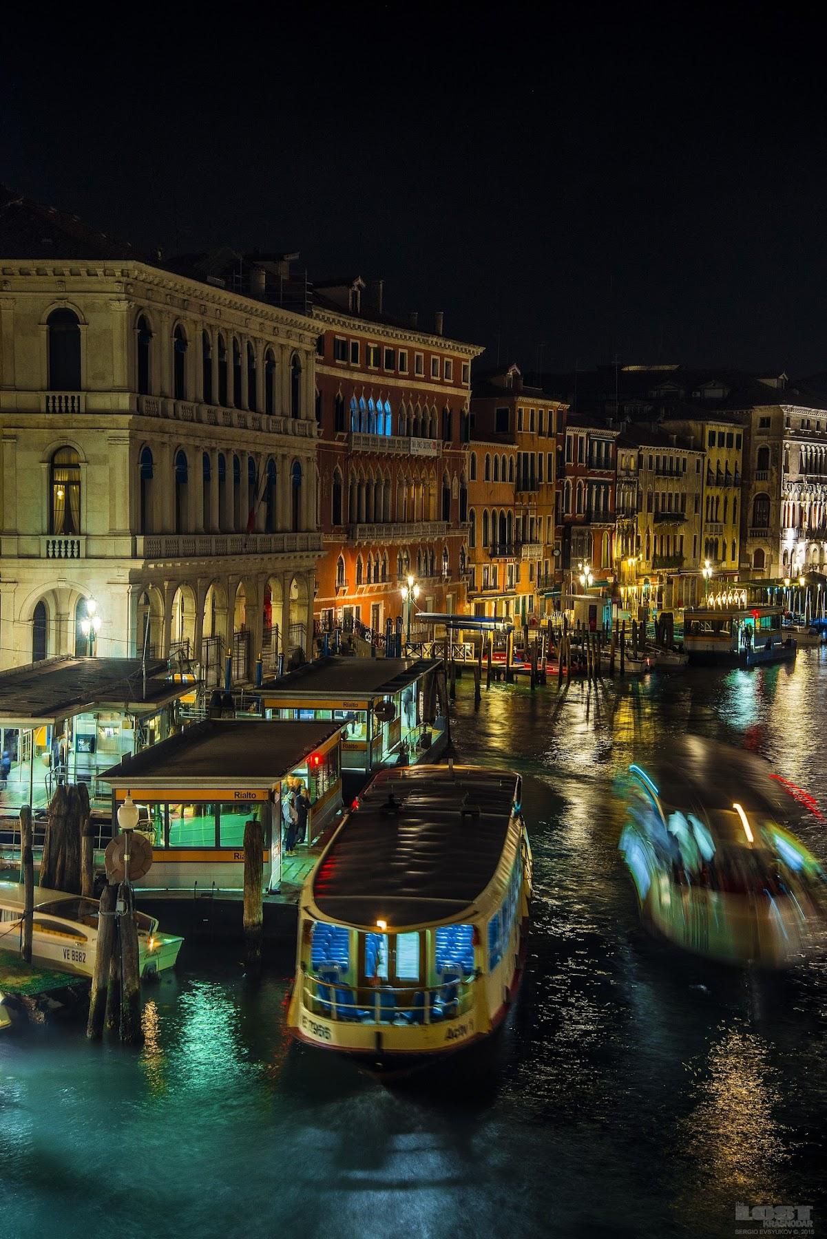 Ночной транспорт в Венеции