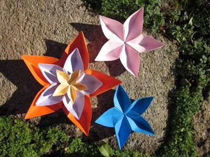 Estrella cinco puntas origami