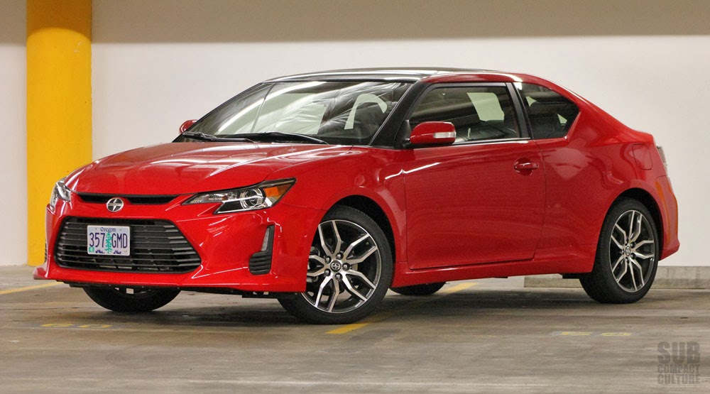 2014 Scion tC in Absolutely Red