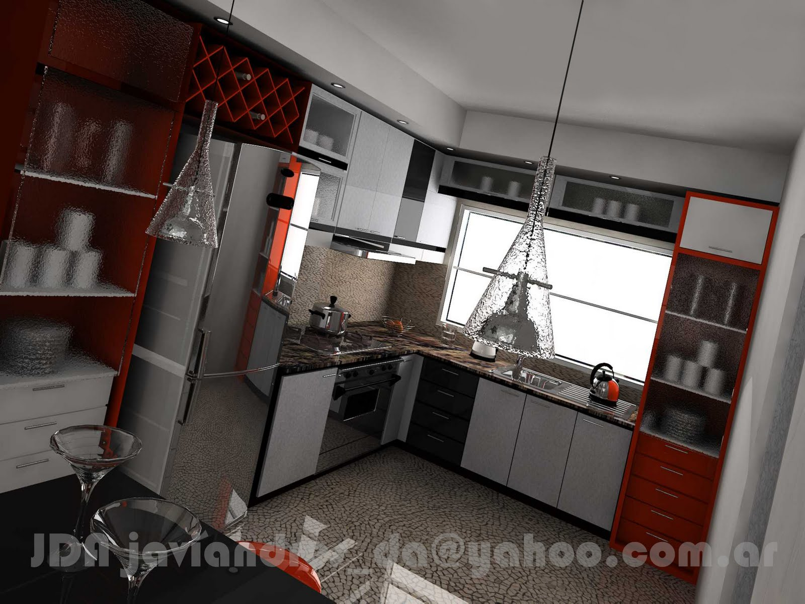 Stands 90s2000 free lance cocina 3d en departamento for Cocina departamento