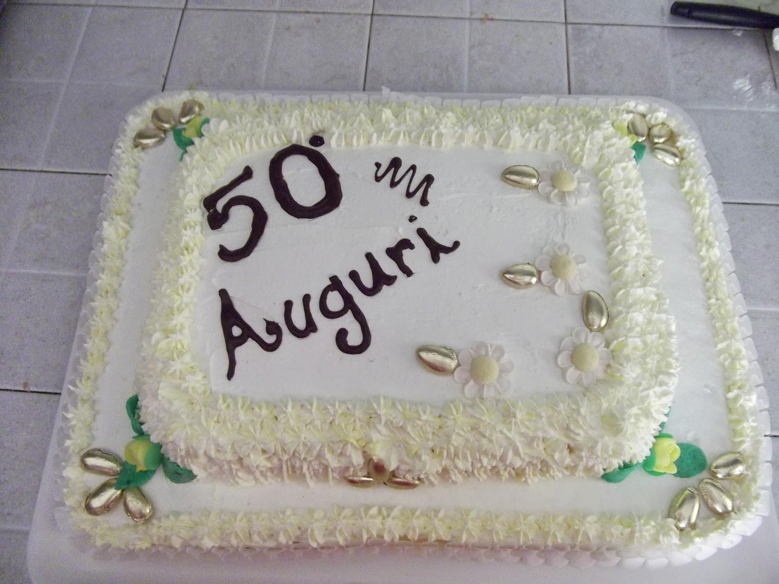 La cucina di mari torta 50 anniversario di professione for Decorazione torte per 50 anni di matrimonio