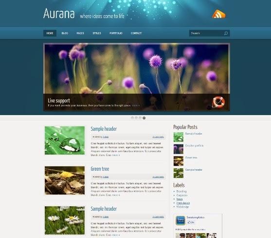 Aurana Blogger Template