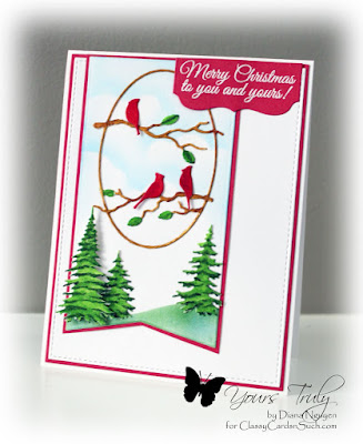 Diana Nguyen, Christmas, Poppy stamps, Impression Obsession, card