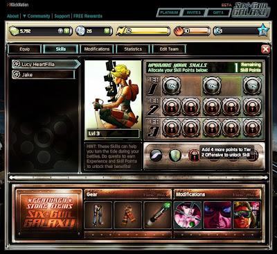Six Gun Galaxy - Character Skills